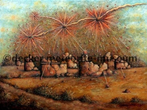 Mbale Meteoritenfall Gemälde