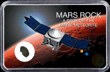 Mars Meteorit Ouargla 003 (Motiv: Raumsonde ExoMars in Mars Atmosphäre)
