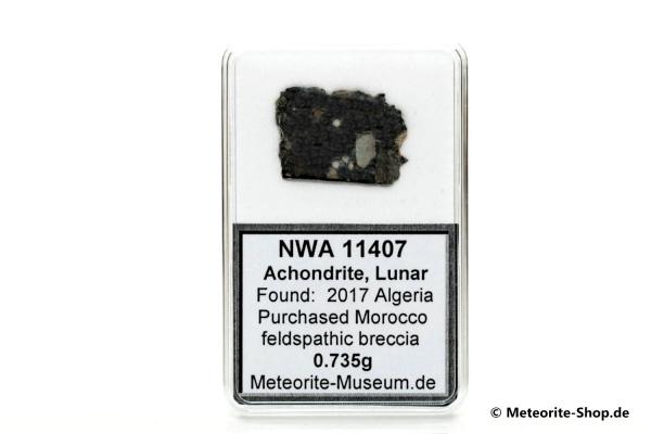 NWA 11407 Mond Meteorit - 0,735 g