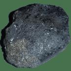 Schwarze und braune Meteoriten mit Schmelzkruste