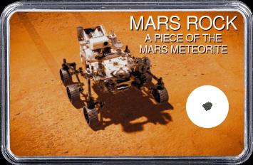 Mars Meteorit Ouargla 003 (Motiv: Mars Rover Perseverance aus der Vogelperspektive)