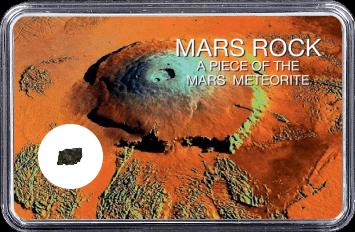 Mars Meteorit NWA 4925 (Motiv: Mars Vulkan Olympus Mons)