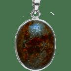 Stein-Meteorit-Anhänger (NWA 869 | Cabochon | 925er Silber)