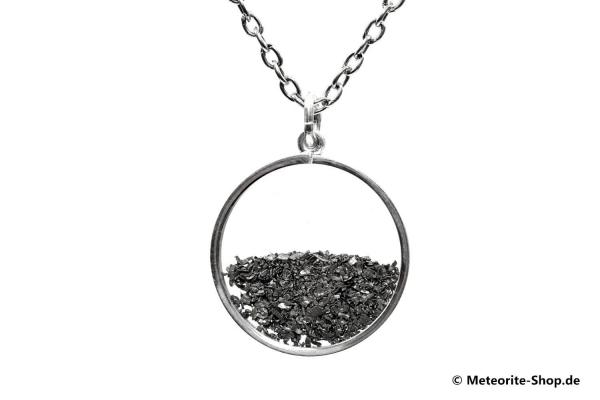Eisen-Meteorit-Medaillon (Muonionalusta | Meteoritenstaub | 925er Silber) - 5,00 g