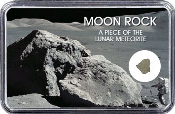 Mond Meteorit NWA 11407 (Motiv: Astronaut mit Mondgestein und Felsen)