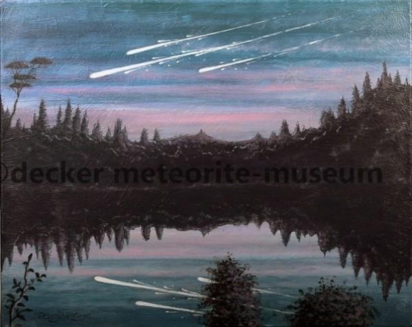 Muonionalusta Meteoritenfall Gemälde