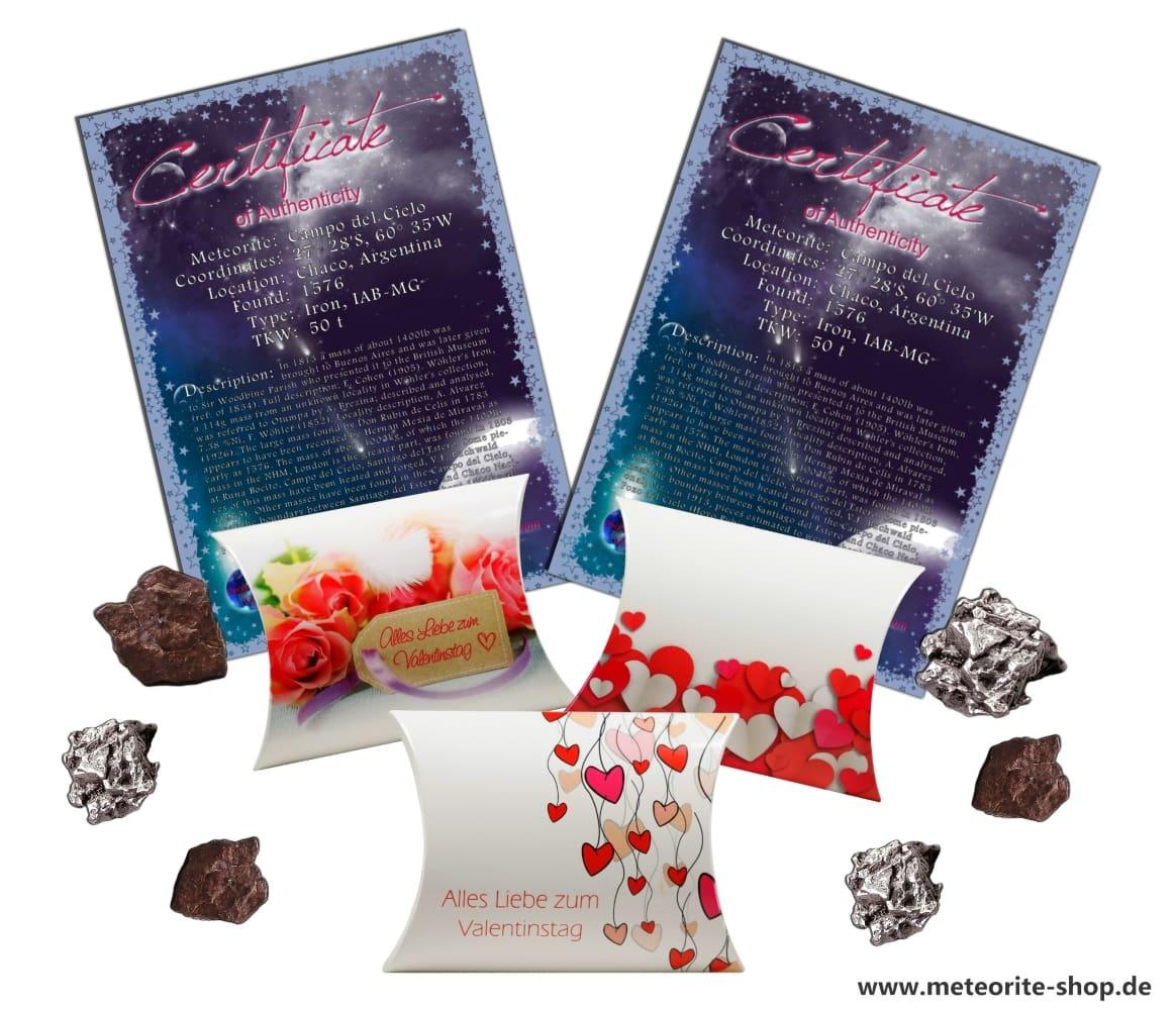 Sternschnuppe als Geschenk zum Valentinstag