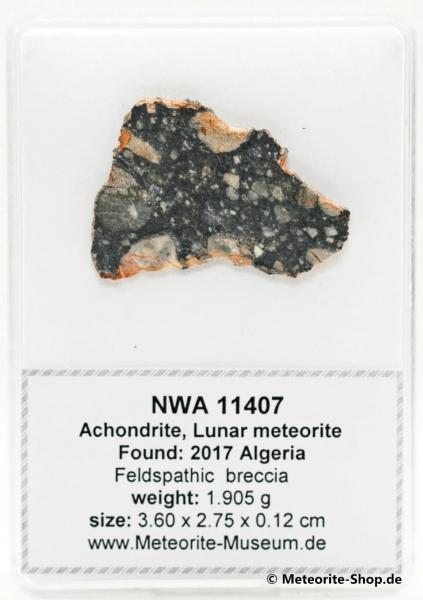NWA 11407 Mond Meteorit - 1,905 g