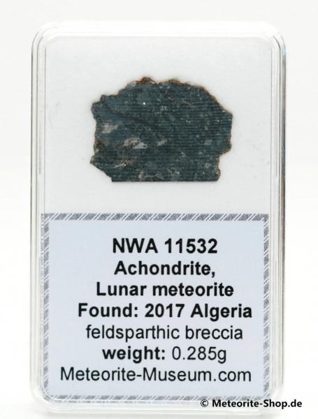NWA 11532 Mond Meteorit - 0,285 g