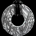 Eisen-Meteorit-Anhänger (Muonionalusta | Donut | Gr. Ø | Rhodiniert)