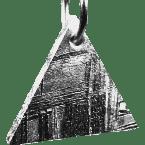 Eisen-Meteorit-Anhänger (Muonionalusta | Dreieck | Rhodiniert)