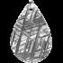 Kategorie Eisen-Meteorit-Anhänger (Muonionalusta | Tropfen | Rhodiniert)