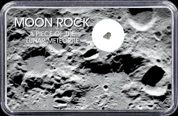 Mond Meteorit NWA 10318 (Motiv: Mond-Einschlagskrater und Mondgestein II)