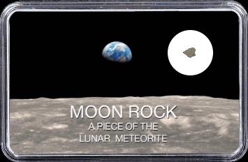 Mond Meteorit NWA 10317 (Motiv: Blick auf Erde von Mond)