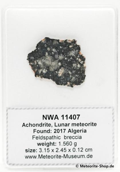 NWA 11407 Mond Meteorit - 1,56 g