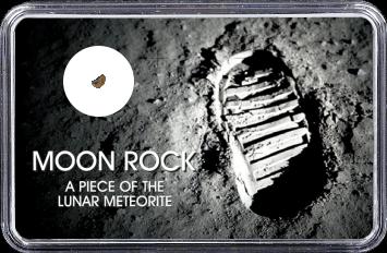 Mond Meteorit NWA 10318 (Motiv: Astronaut-Fußabdruck im Mondstaub)