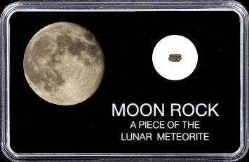 Mond Meteorit NWA 10317 (Motiv: Abnehmender Mond)