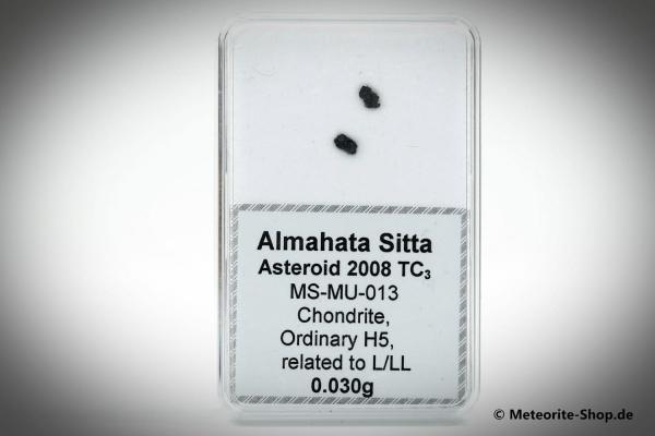 Almahata Sitta Meteorit (MS-MU-013: Gewöhnlicher Chondrit > H5, L/LL) - 0,030 g