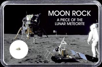 Mond Meteorit NWA 4881 (Motiv: Astronaut mit Mondlandefähre)