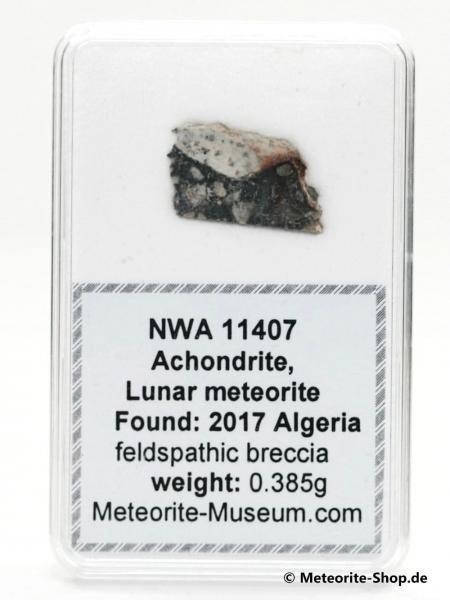 NWA 11407 Mond Meteorit - 0,385 g