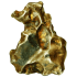 Kategorie Golden Pallasite Meteoriten (gepaart mit NWA 7788)