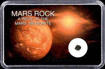 Mars Meteorit Ouargla 003 (Motiv: Mars mit Sonne und Weltall)