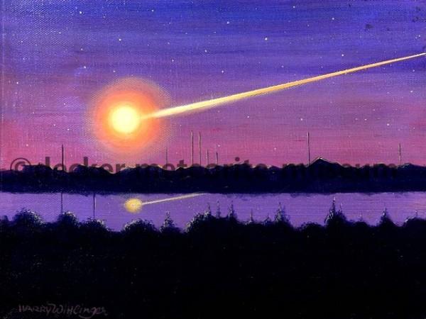 Chelyabinsk Meteoritenfall Gemälde (Motiv I)