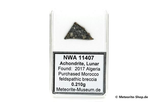 NWA 11407 Mond Meteorit - 0,210 g