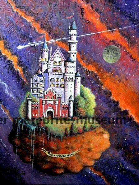 Neuschwanstein Meteoritenfall Gemälde (Motiv II)