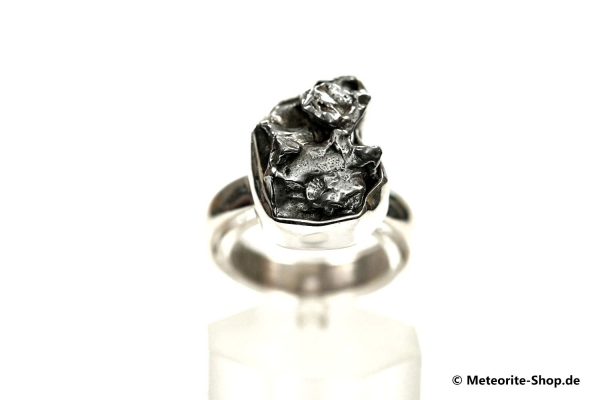 Eisen-Meteorit-Ring (Campo del Cielo | Gefasst | Gr. 55 | 925er Silber) - 6,90 g
