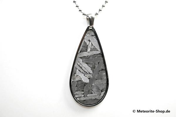 Stein-Eisen-Meteorit-Anhänger (Seymchan | Tropfen) - 7,00 g