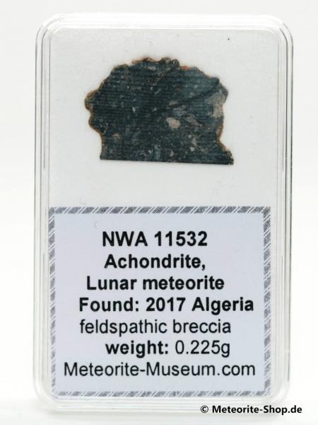 NWA 11532 Mond Meteorit - 0,225 g