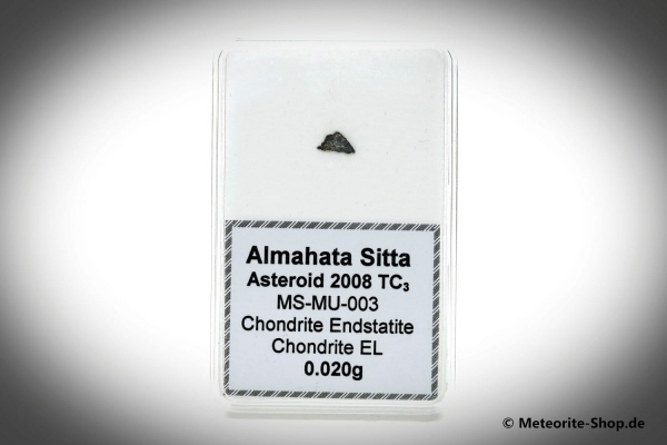 Almahata Sitta Meteorit (MS-MU-003: Enstatit-Chondrit > EL, Brekzie) - 0,02 g