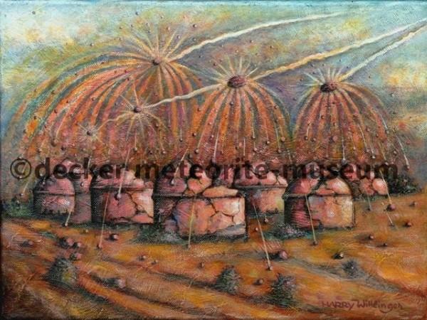 Gao-Guenie Meteoritenfall Gemälde