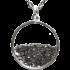 Kategorie Eisen-Meteorit-Medaillon (Muonionalusta | Meteoritenstaub | 925er Silber & Gold)