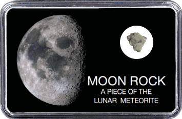 Mond Meteorit NWA 11407 (Motiv: Halbmond)