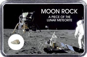 Mond Meteorit NWA 11407 (Motiv: Astronaut mit Mondlandefähre)