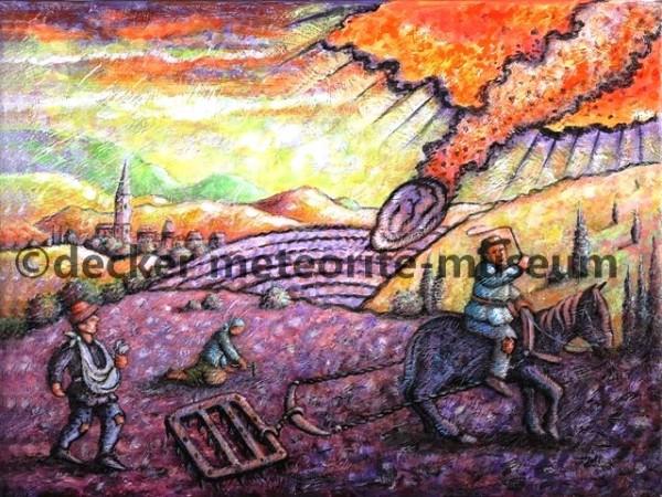 Ensisheim Meteoritenfall Gemälde (Motiv I)