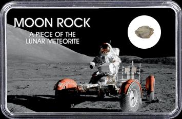 NWA 10318 Mond Meteorit (Motiv: Astronaut mit LRV I)