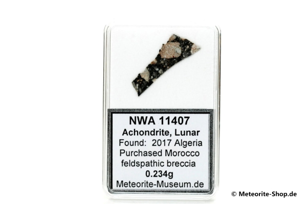 NWA 11407 Mond Meteorit - 0,234 g