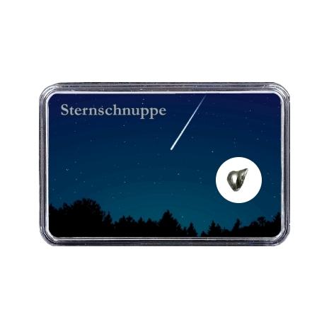 Sternschnuppe über Wald bei Sternenhimmel