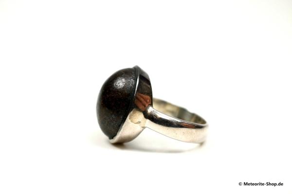 Stein-Meteorit-Ring (NWA 869 | Cabochon | Gr. 57 | 925er Silber) - 9,15 g
