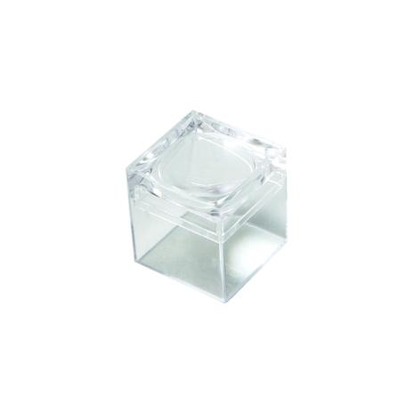 Klarsichtdose mit Lupe (5x Vergrößerung)