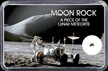 Mond Meteorit NWA 4881 (Motiv: Astronaut mit LRV II)