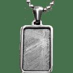 Stein-Eisen-Meteorit-Anhänger (Seymchan | Rechteck)