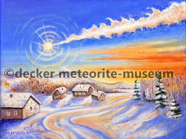 Chelyabinsk Meteoritenfall Gemälde (Motiv II)