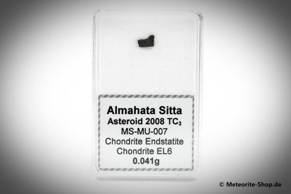 Almahata Sitta Meteorit (MS-MU-007: Enstatit-Chondrit > EL6) - 0,041 g