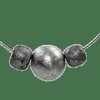 Eisen-Meteorit Collier & Halsketten (Muonionalusta | Rhodiniert)