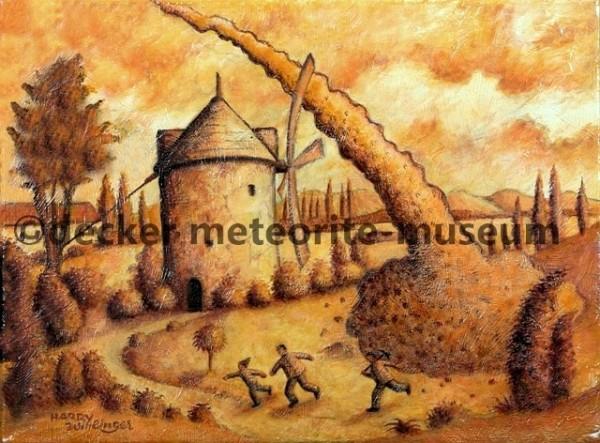 Orgueil Meteoritenfall Gemälde