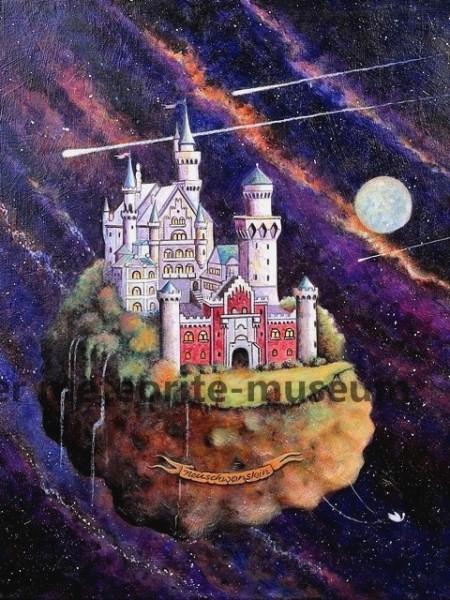 Neuschwanstein Meteoritenfall Gemälde (Motiv V)